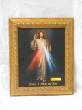 Divine Mercy 8x10 Gold Ovals Framed Print