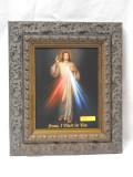 Divine Mercy 8x10 Ornate Dark Framed Print