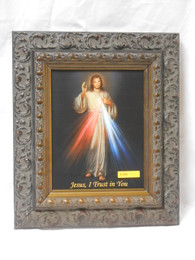 Divine Mercy 8x10 Ornate Dark Framed Print