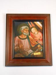 St. Matthew 8x10 Brown Framed Print