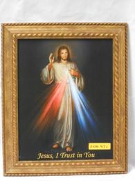 Divine Mercy 8x10 Gold-Cord Framed Print