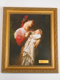 Maternal Admiration 8x10 Golden Framed Print