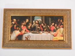 Last Supper 5x10 Golden Framed Print