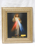 Divine Mercy 8x10 Dulled- Gold Framed Print