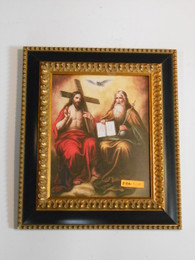 Holy Trinity 8x10 Gold & Black Framed Print