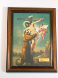 St. Francis with Christ 7x10 Framed Print
