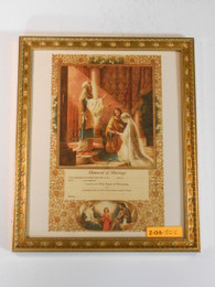 Marriage of Joseph and Mary Marriage Certificate 8x10 Framed Print