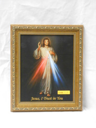 Divine Mercy 8x10 Simple-Golden Framed Print
