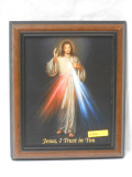 Divine Mercy 8x10 Simple-Brown Framed Print