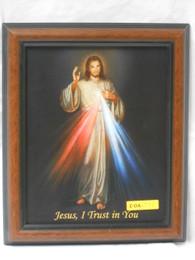 Divine Mercy 8x10 Brown&Black Framed Print
