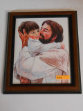 Jesus and Child 7x9 Framed Print