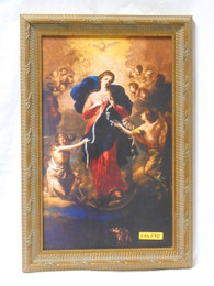 Mary Undoer of Knots 10x15 Ornate Framed Print