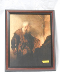St. Paul at His Writing Desk 10x13 Framed Print