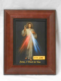 Divine Mercy 5x7 Wide Wood-Framed Print