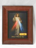 Divine Mercy 5x7 Wide Wood-Framed Print