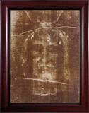 Shroud of Turin Framed Art - Cherry Frame