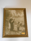 Gift of the Shepherd 12x16 Ornate Gold-Framed Print