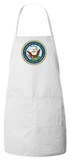 Navy Apron (White)