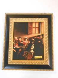 The Calling of St. Matthew (Caravaggio) 8x10 Framed Print