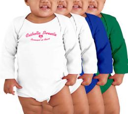 Catholic Sweetie Long-Sleeve Baby Onesie