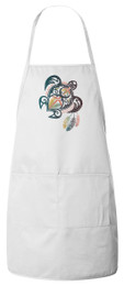 I Am Not My Own: St. Kateri Turtle Apron (White)
