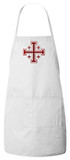 Jerusalem Cross Crusader Apron (White)