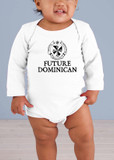 Future Dominican Long-Sleeve Baby Onesie