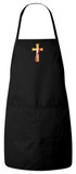 Deacon's Cross Apron (Black)