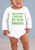 Jesus Loves Everyone Long-Sleeve Baby Onesie