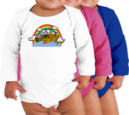 Noah's Ark Long-Sleeve Baby Onesie