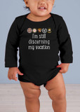 I'm Still Discerning Long-Sleeve Baby Onesie