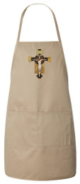 Benedictine Cross Apron (Natural)