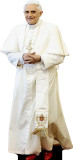 Benedict XVI in White Lifesize Standee