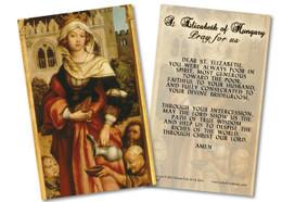 St. Elizabeth of Hungary Prayer Card