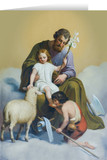 St. Joseph Guardian of Sons Greeting Card (with Prayer for Fatherhood)