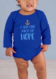 Face of Hope Long-Sleeve Baby Onesie
