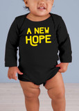 A New Hope Long-Sleeve Black Baby Onesie
