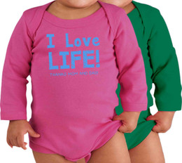 I Love Life! Long-Sleeve Baby Onesie