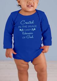 Image and Likeness of God Long-Sleeve Baby Onesie