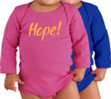 Hope! Long-Sleeve Baby Onesie