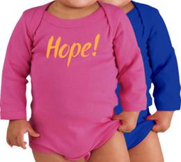 Hope! Long-Sleeve Baby Onesie