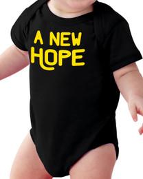A New Hope Black Baby Onesie