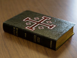 Personalized Catholic Bible with Cross of Jerusalem (Crusader) Cover - Black Genuine Leather NABRE