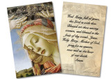 Madonna of the Magnificat: Hail Mary Holy Card