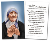 St. Teresa of Calcutta Canonization Quote Holy Card
