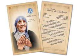 SPANISH St. Teresa of Calcutta Commemorative Prayer Card