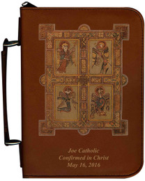 Personalized Bible Cover with Book of Kells Graphic - Tawny