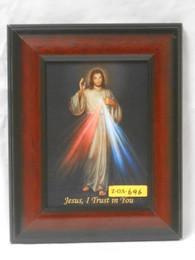 Divine Mercy 5x7 Dark Wooden Framed Print