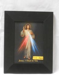 Divine Mercy 5x7 Black Framed Print