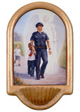 The Protector: Police Guardian Angel Holy Water Font